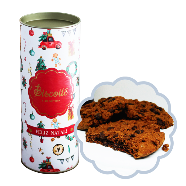 Lata de Natal COOKIE CHOCOLATE - 200g