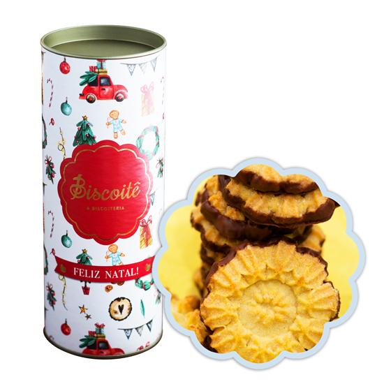 Lata de Natal LIMÃO SICILIANO com CHOCOLATE - 200g