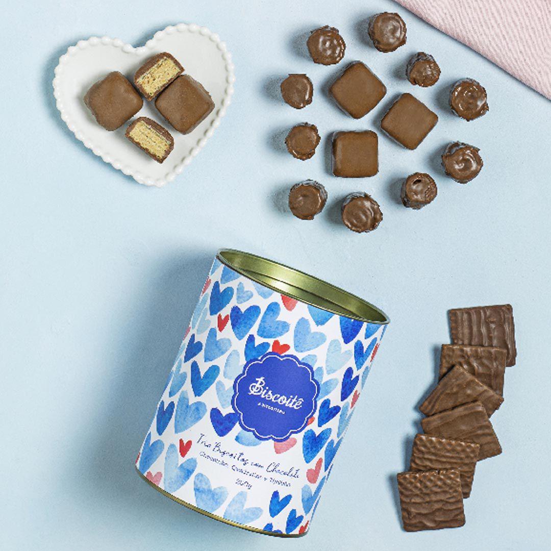 Trio Biscoitos com Chocolate