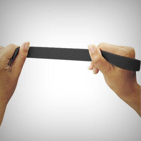 Fita argola elastica preta 50mm – 1m