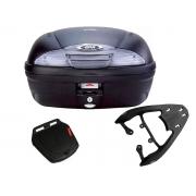 Baú E450NT + bagageiro SCAM Fiber Force CG 160 Fan/ CG 160 Start