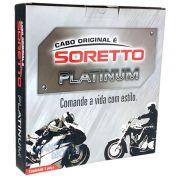 "Cabo Soretto Platinum Acelerador ""B"" Harley Davidson Heritage Softail Classic Flstc"