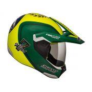 Capacete Bieffe 3 Sport 7 Wins Amarelo/Verde