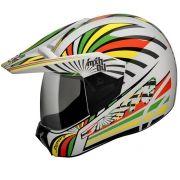 Capacete Bieffe 3 Sport MXH04 Branco/Amarelo
