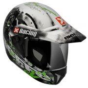 Capacete Bieffe 3 Sport Xracing Branco/Verde