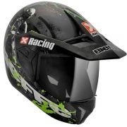 Capacete Bieffe 3 Sport Xracing Cinza Fosco/Verde