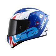 Capacete LS2 FF323 Arrow R Techno Branco/Azul/Vermelho