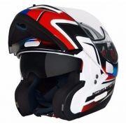 Capacete MT Optimus SV Tricolore Azul (Escamoteável)