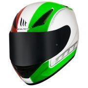 Capacete MT Revenge Binomy Branco/Vermelho/Verde
