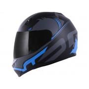 Capacete Norisk FF391 Stunt Squalo Preto Fosco/Azul