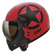Capacete Peels F21 Army Vermelho/Preto