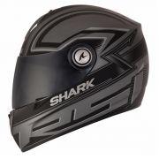 Capacete Shark RSI S2 Splinter Matt SSK Preto Fosco/Cinza