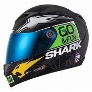 Capacete Shark S700 Réplica Scott Redding Valencia KGY + Brinde Viseira Fumê