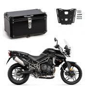 KIT Bauleto Central Braz Atacama 55L Preto + Base para Tiger 800