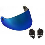 Viseira Azul + Reparo Fixador Original Peels Spike