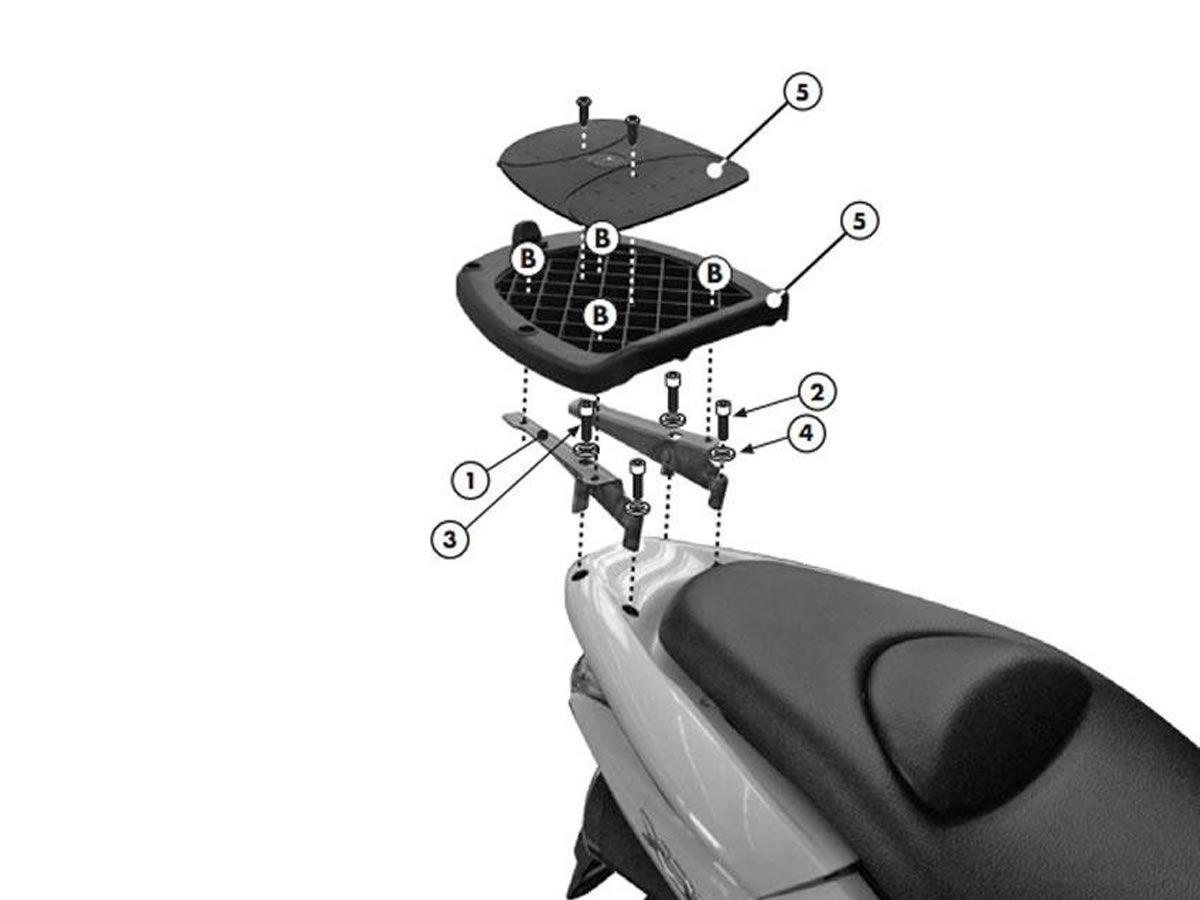 Bagageiro Givi Reforçado  PCX 125 / PCX 150  - Manolo Motos