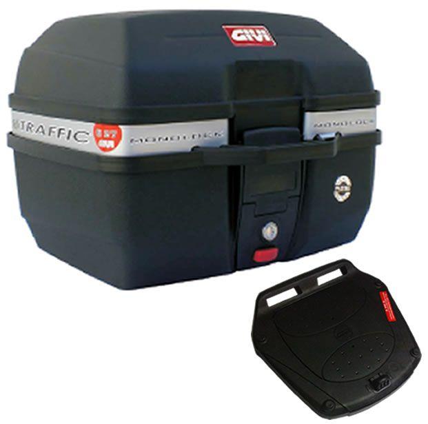 Baú E27 + bagageiro GIVI CBX 250 Twister 2001 a 2008  - Manolo Motos