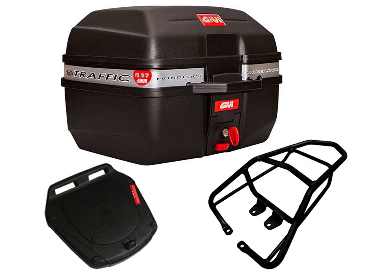 Baú E27 + bagageiro GIVI CG 150 fan / CG 160 Fan/Start  - Manolo Motos
