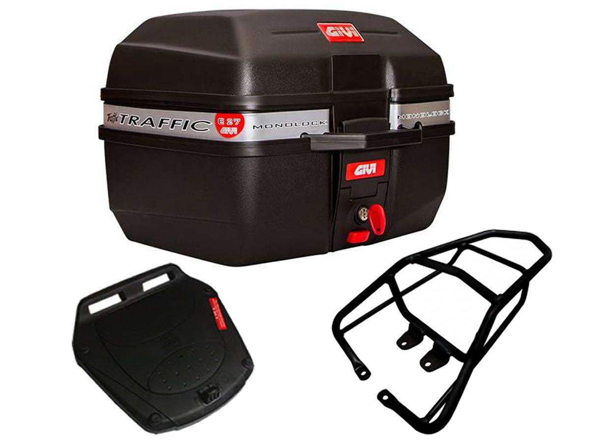 Baú E27 + bagageiro GIVI CG 160 Titan  - Manolo Motos