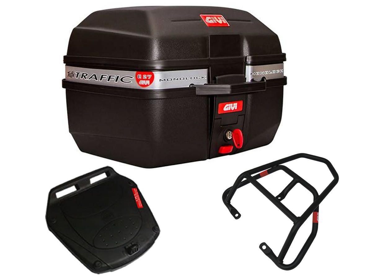 Baú E27 + bagageiro GIVI Yes 125 2005 a 2012  - Manolo Motos