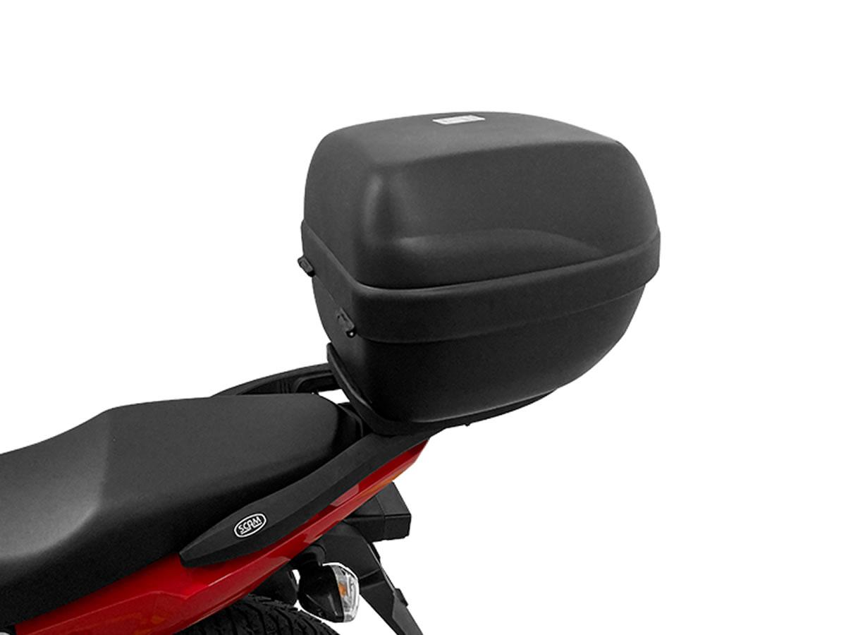 Baú E29N + bagageiro SCAM Fiber Force CG 160 Fan/ CG 160 Start  - Manolo Motos