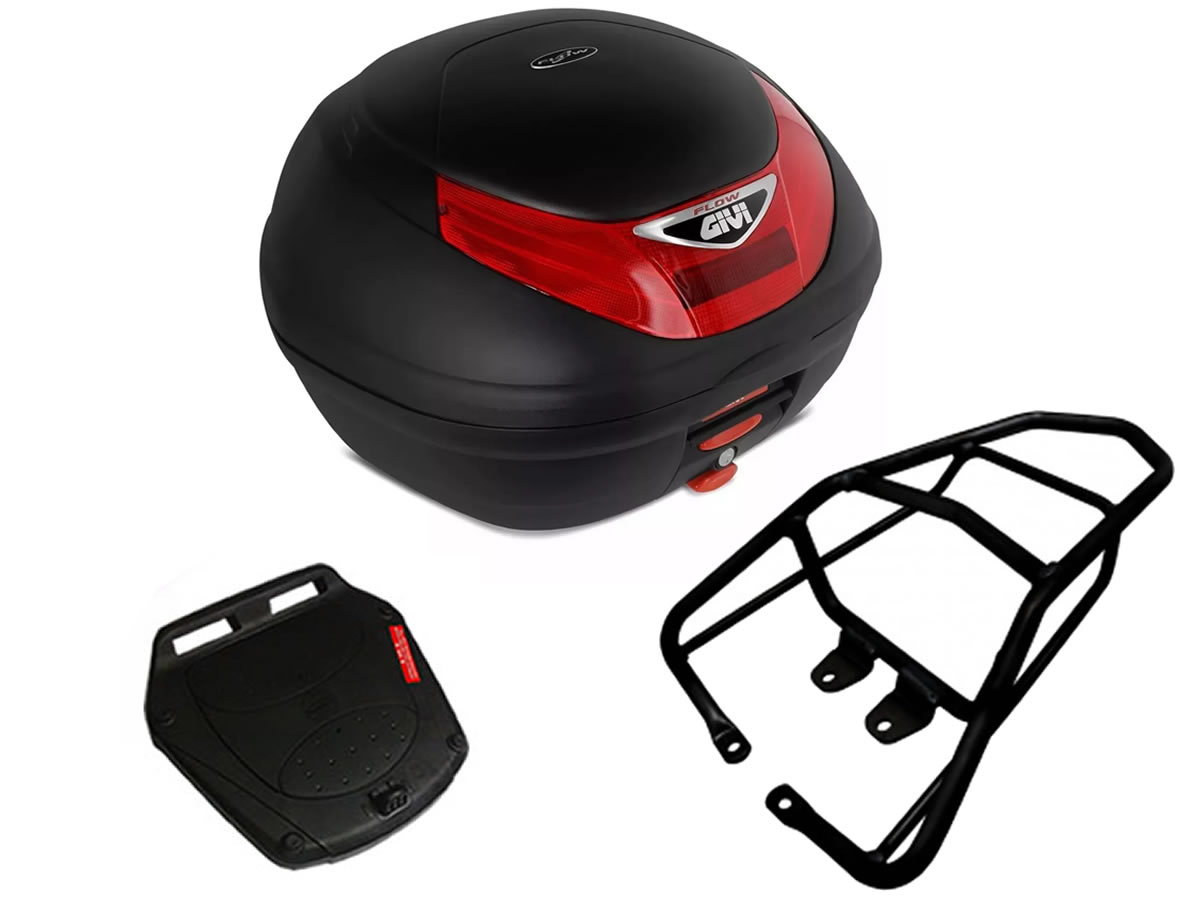 Baú E350N + bagageiro GIVI CG 150 fan / CG 160 Fan/Start  - Manolo Motos