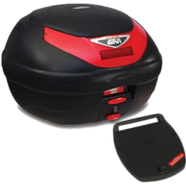Baú E350N + bagageiro GIVI CG Titan 150 2004 a 2008  - Manolo Motos