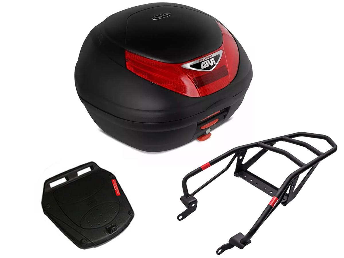 Baú E350N + bagageiro GIVI Tenere 250  2011 a 2015  - Manolo Motos