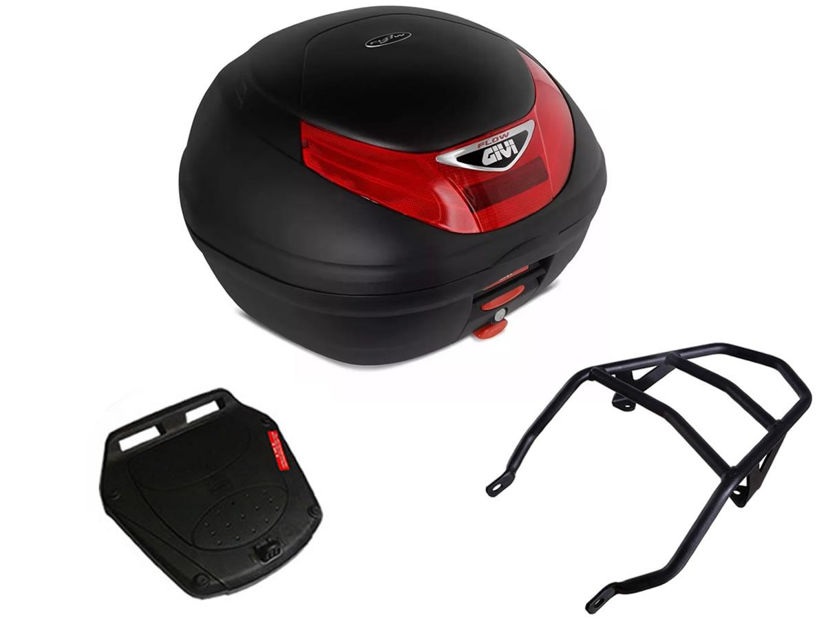 Baú E350N + bagageiro GIVI XTZ 125 2003 a 2016  - Manolo Motos