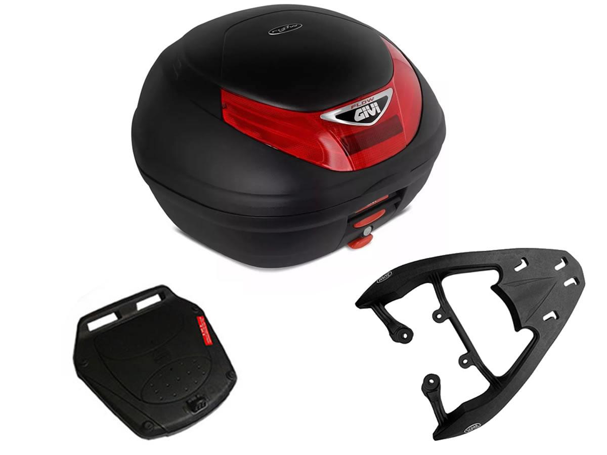 Baú E350N + bagageiro SCAM Fiber Force CG 160 Fan/ CG 160 Start  - Manolo Motos