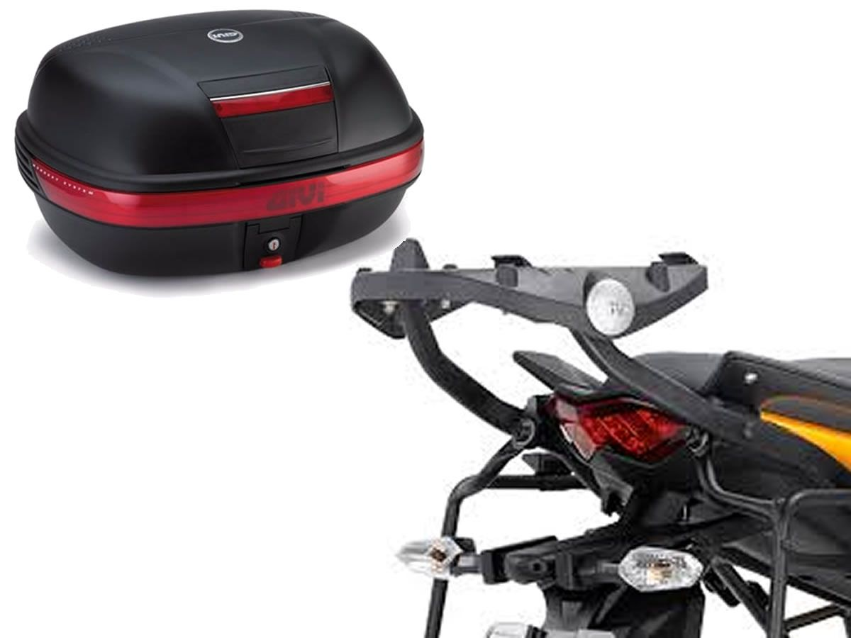 Baú GIVI Central Monokey 46L + monorack + Base Versys 650 2010 a 2014  - Manolo Motos