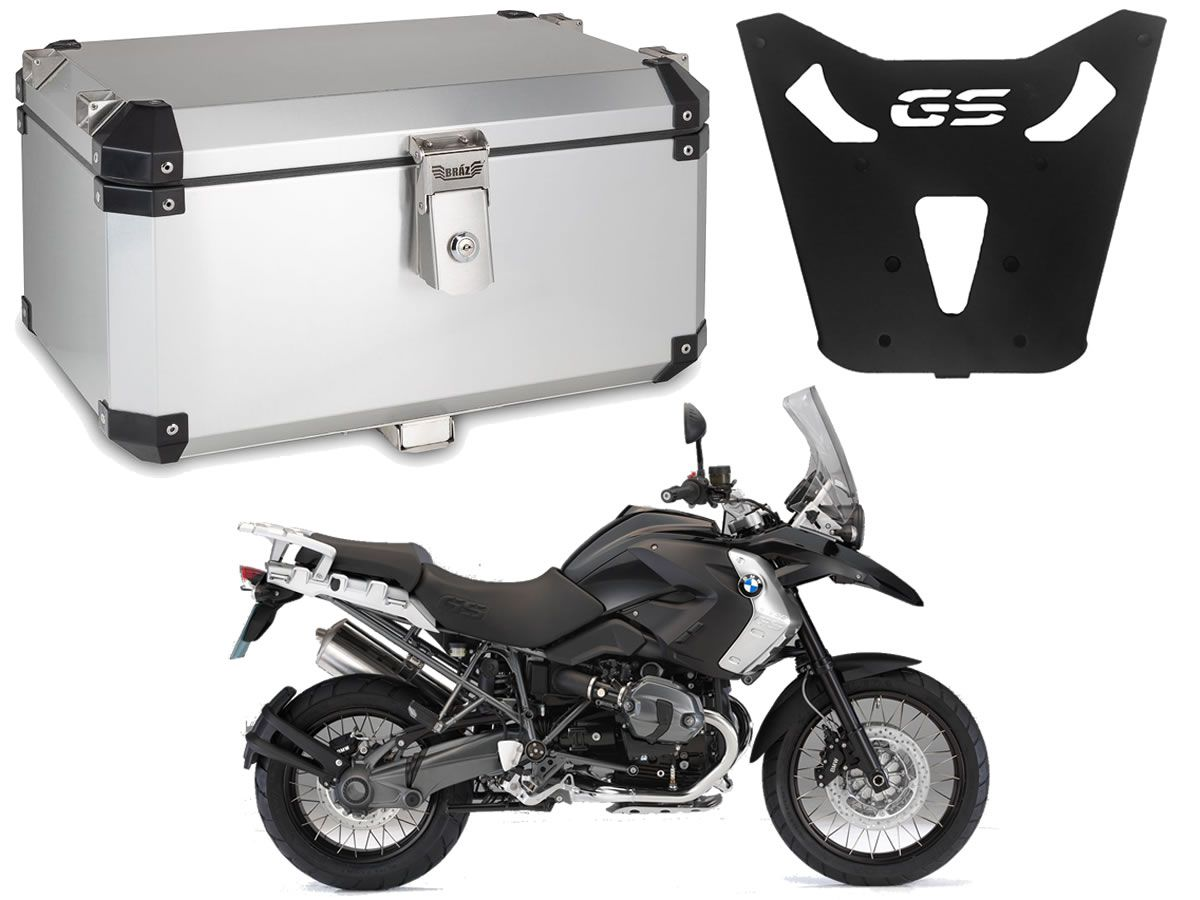 Bauleto Central Braz Atacama 55L Escovado + Base R 1200 GS 2013 a 2019  - Manolo Motos