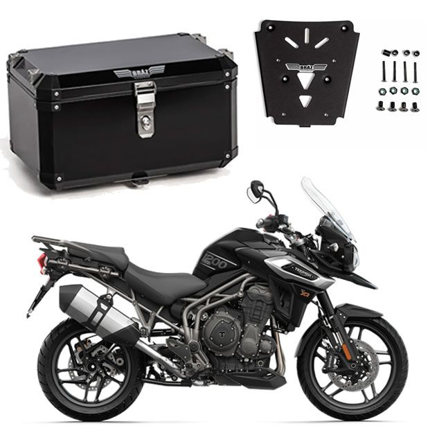 Bauleto Central Braz Atacama 55L Preto + Base Tiger 1200