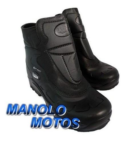 Bota Motoqueiro Em Borracha 100% Impermeável Delta  - Manolo Motos