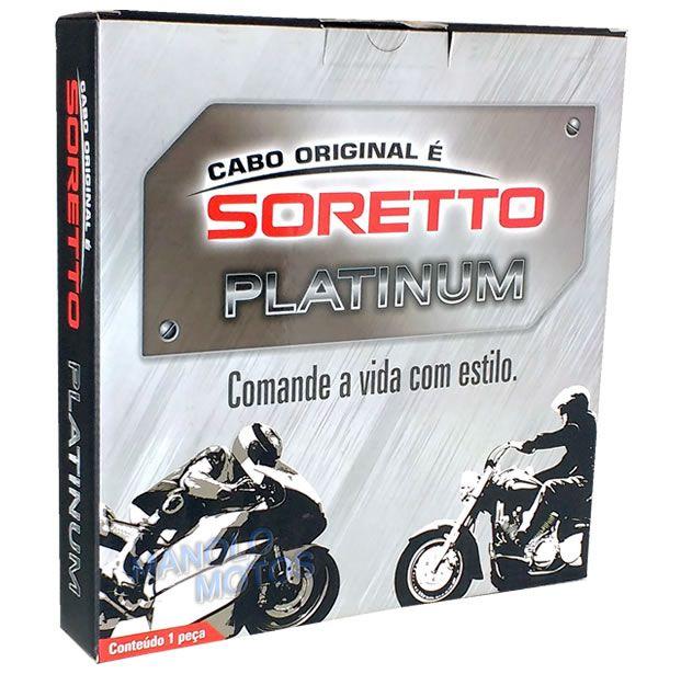 Cabo Soretto Platinum Embreagem Harley Davidson Softail Fat Boy LO - FLSTF / FLSTFB / FLSTN  - Manolo Motos