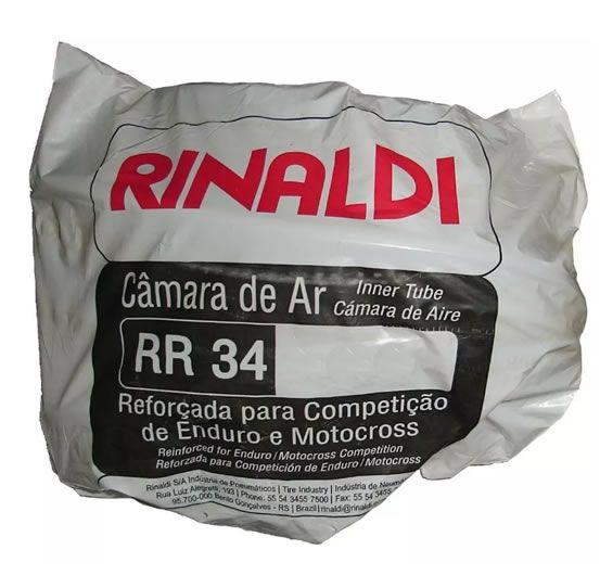 Câmara de ar Rinaldi RR 34 Reforçada para Moto Cross 4 mm 460-17  - Manolo Motos