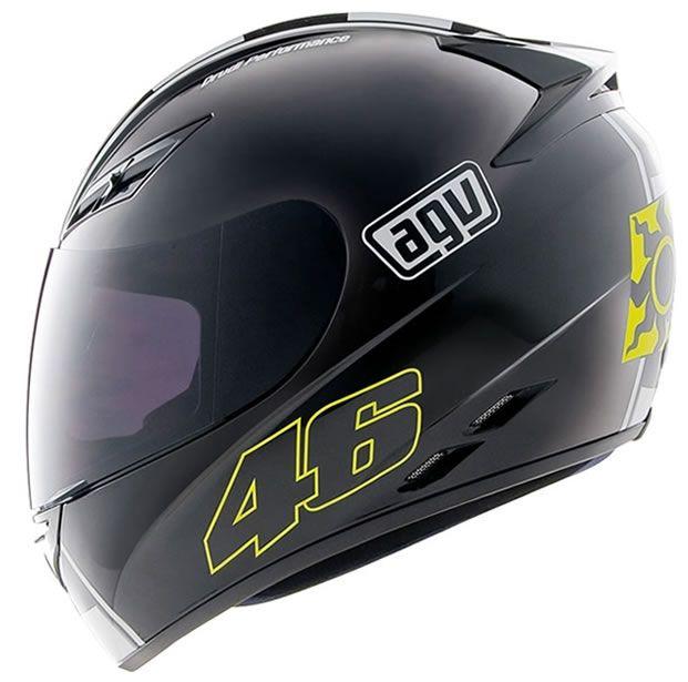 Capacete AGV K3 Celebr 08 Preto Valentino Rossi
