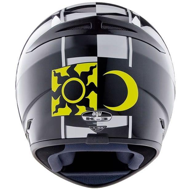 Capacete AGV K3 Celebr 08 Preto Valentino Rossi  - Manolo Motos
