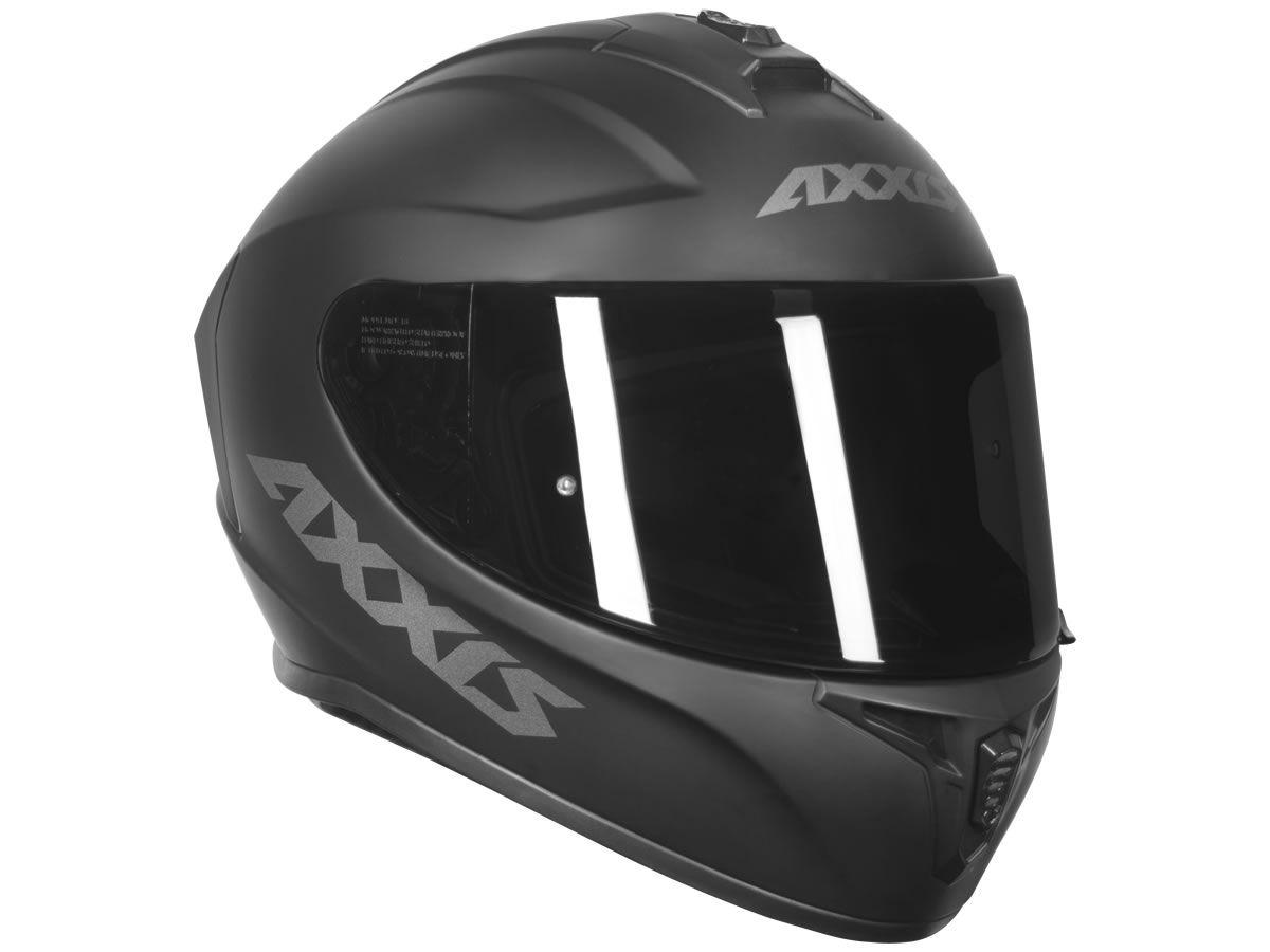 Capacete Axxis Draken Solid Preto Fosco  - Manolo Motos