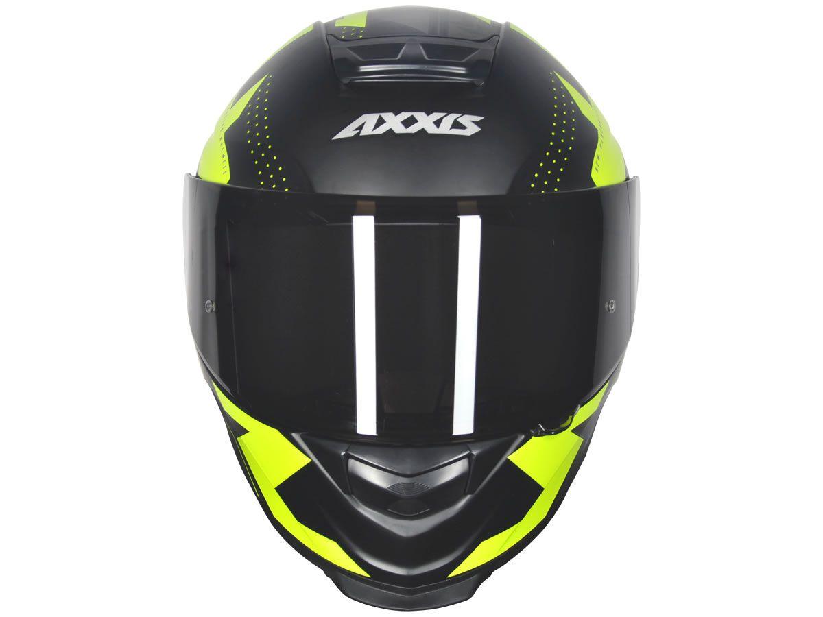 Capacete Axxis Eagle Diagon Preto/Amarelo Fosco  - Manolo Motos