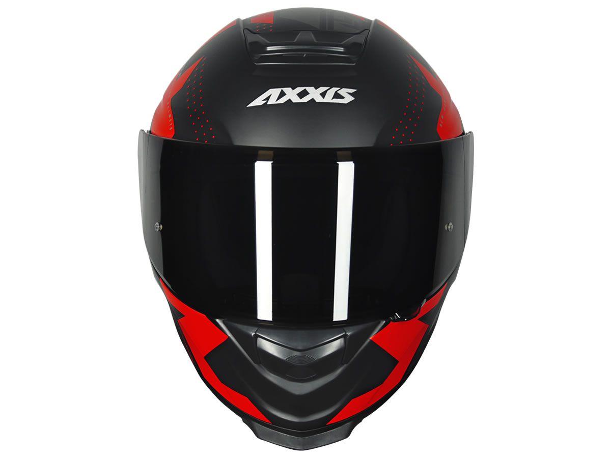 Capacete Axxis Eagle Diagon Preto/Vermelho Fosco  - Manolo Motos