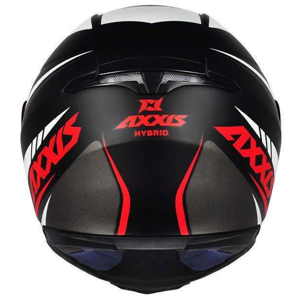 Capacete Axxis Eagle Hybrid Preto/Cinza/Branco Fosco  - Manolo Motos