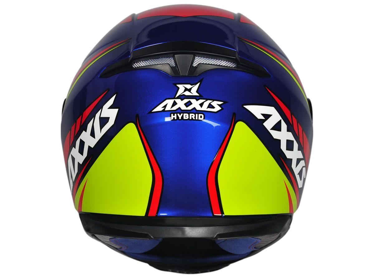 Capacete Axxis Eagle Hybrid Race Azul  - Manolo Motos