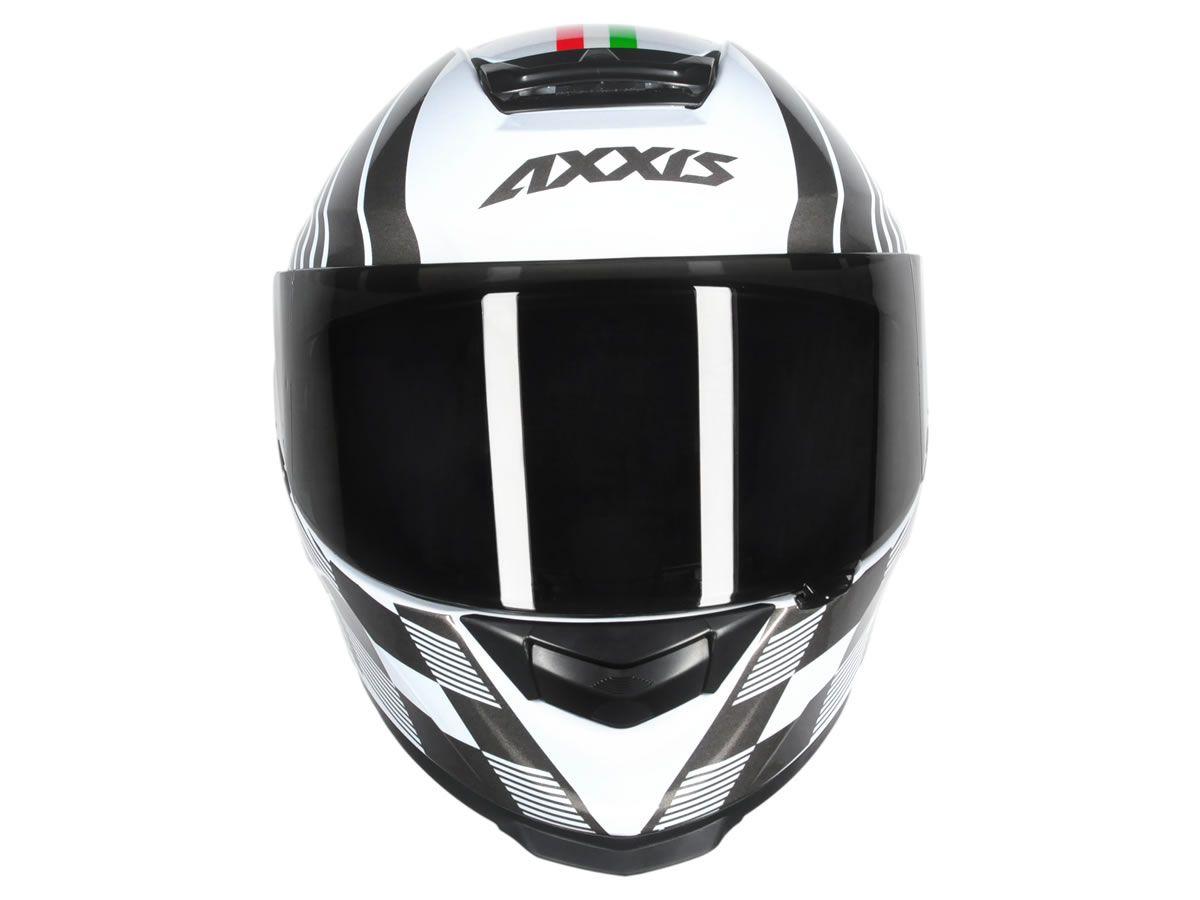 Capacete Axxis Eagle Italy Branco/Cinza  - Manolo Motos