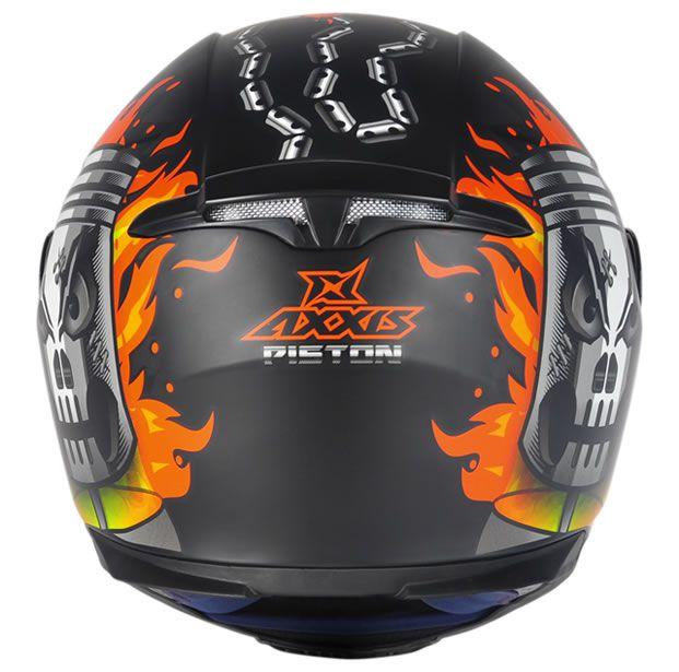 Capacete Axxis Eagle Piston Preto Fosco/Laranja  - Manolo Motos