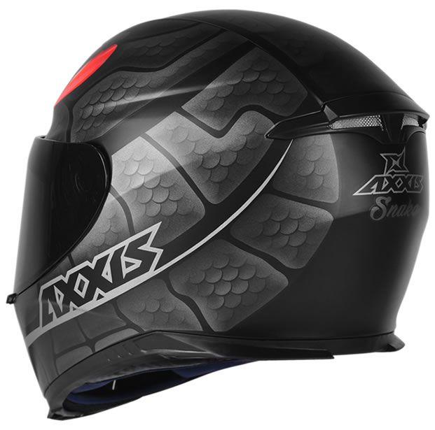 Capacete Axxis Eagle Snake Preto Fosco/Cinza  - Manolo Motos