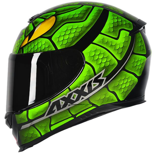 Capacete Axxis Eagle Snake Preto/Verde