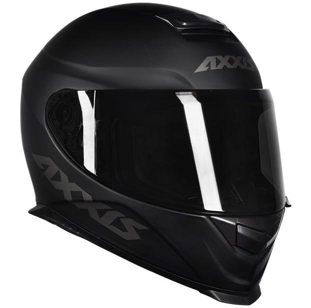 Capacete Axxis Eagle Solid Preto Fosco/Cinza  - Manolo Motos