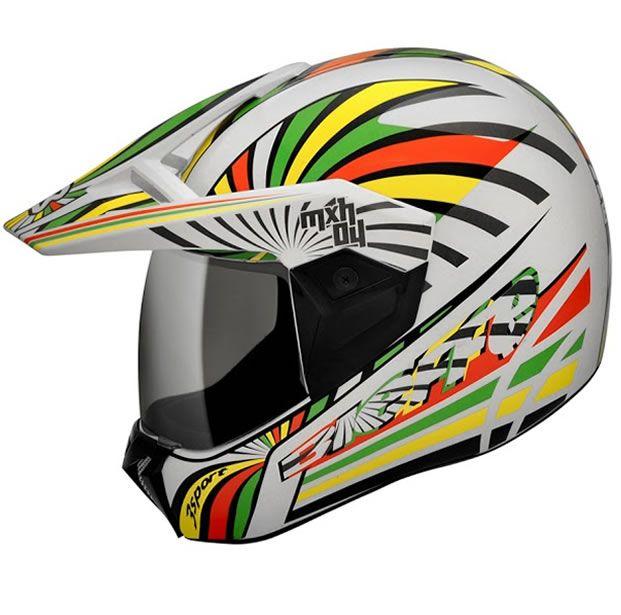 Capacete Bieffe 3 Sport MXH04 Branco/Amarelo  - Manolo Motos