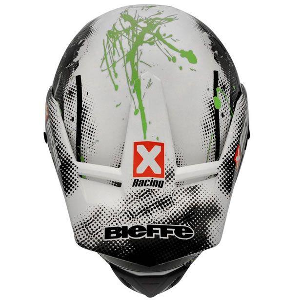 Capacete Bieffe 3 Sport Xracing Branco/Verde  - Manolo Motos